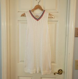 Brooks Brothers Red Fleece White Sweater Dress